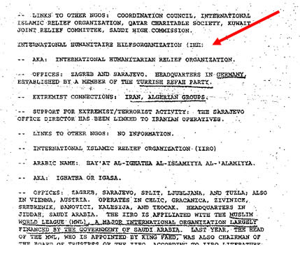 The IHH as appears in the 1996 CIA report
